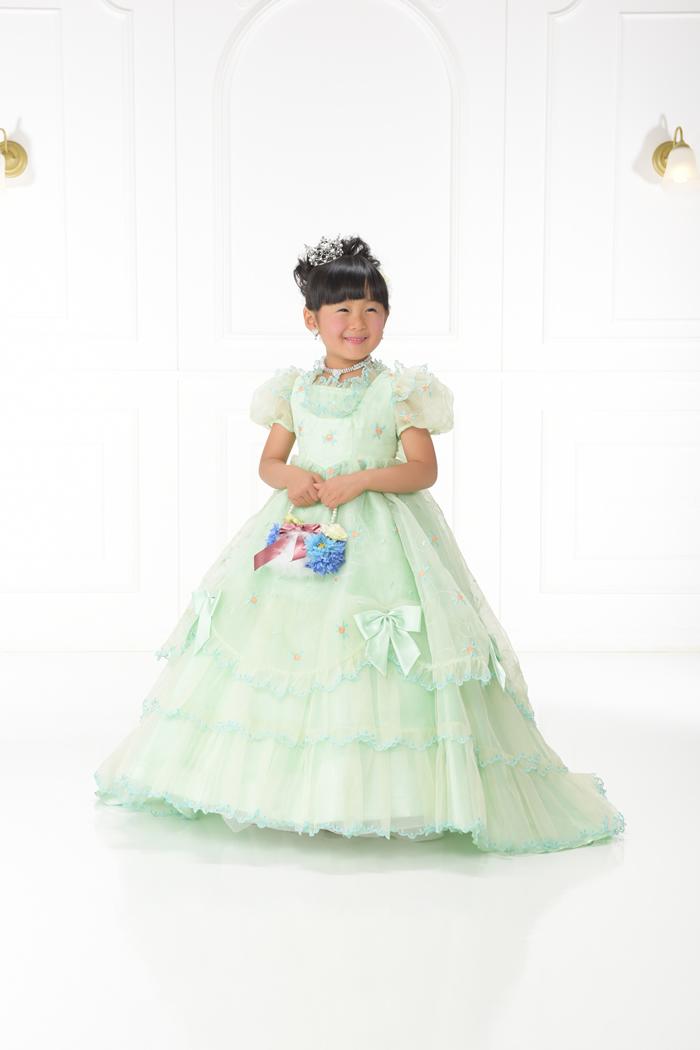 七五三5歳女の子No.17 size100-グリーン
