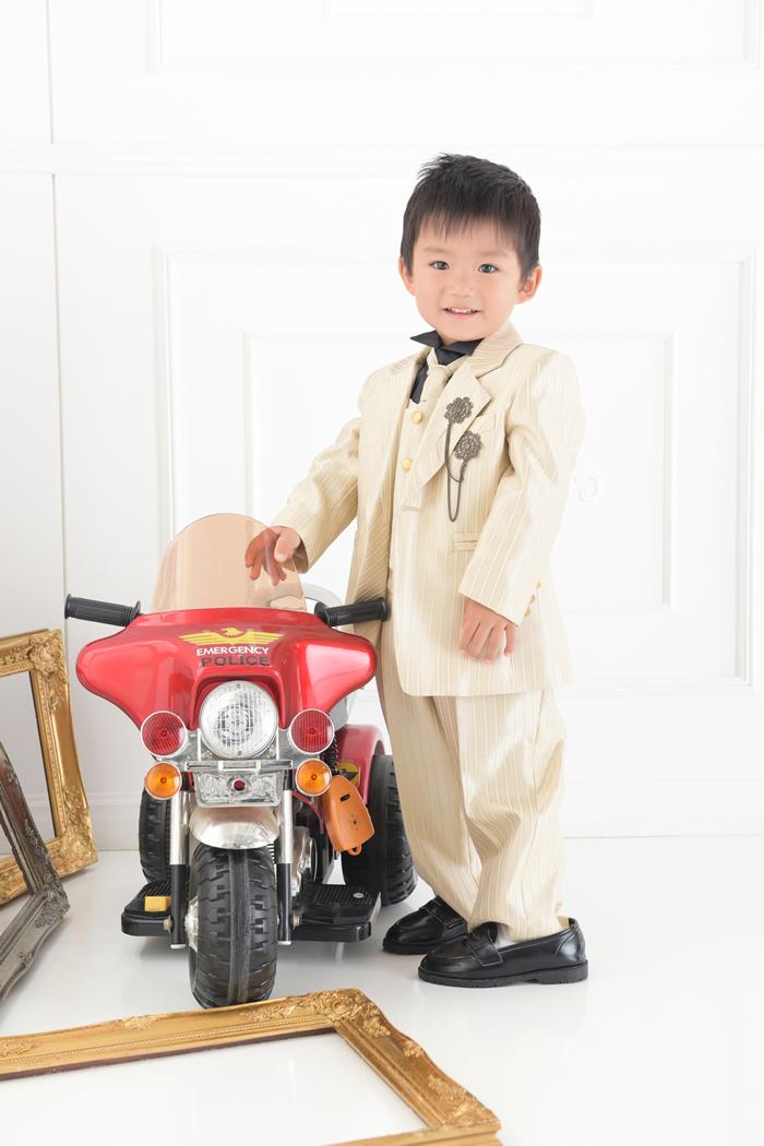 七五三3歳男の子No.13 size100-ゴールド