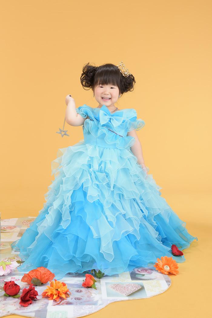 七五三3歳女の子No.33 size100-ブルー