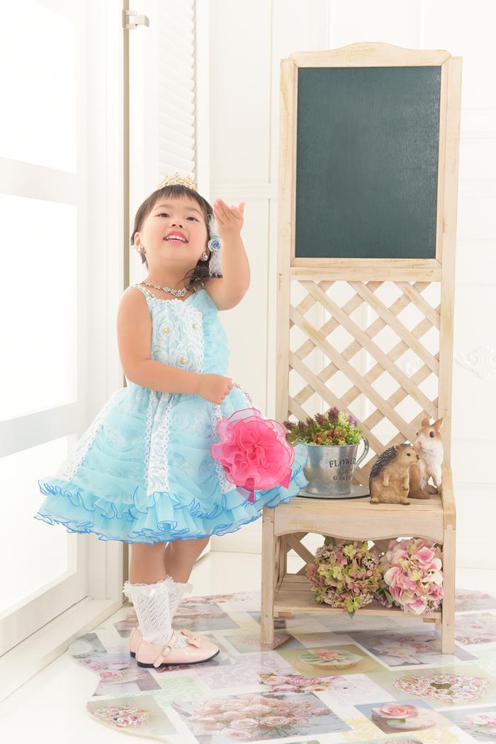 七五三3歳女の子No.7 size100-ブルー