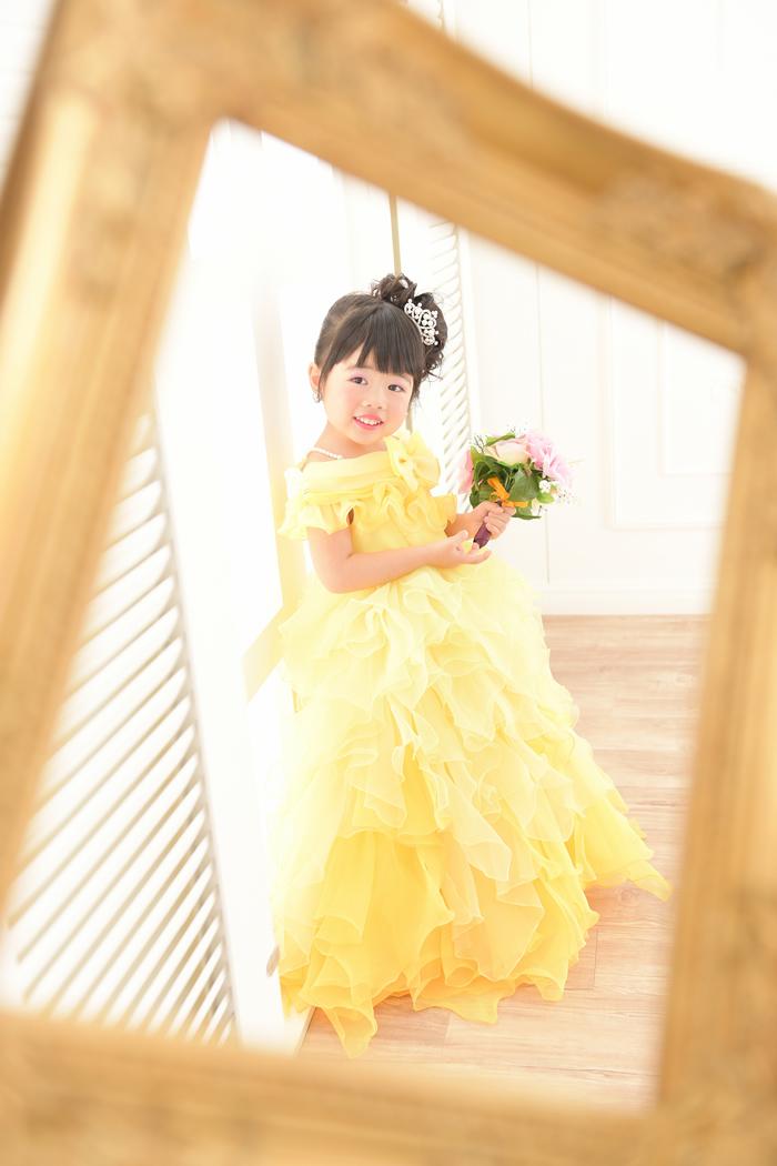 七五三3歳女の子No.23 size100-黄