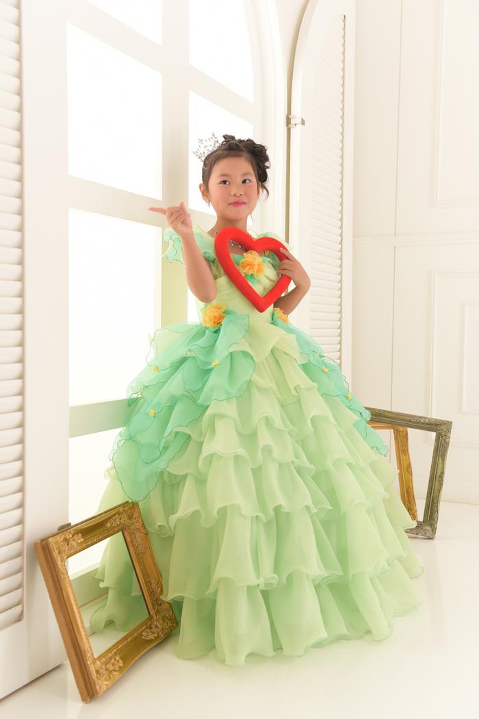 七五三5歳女の子No.5 size110-グリーン