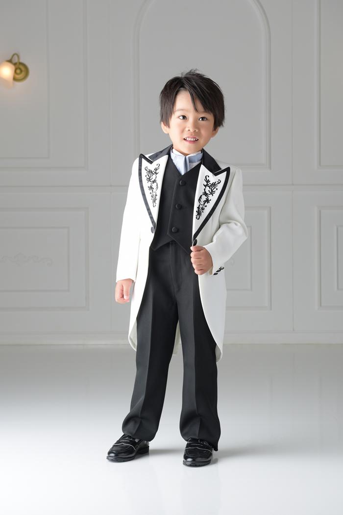 七五三5歳男の子No.2 size110-白