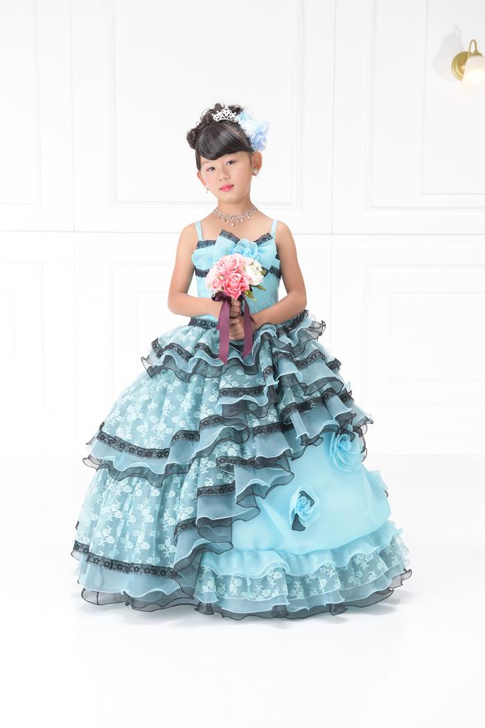 七五三7歳女の子No.19 size120-ブルー
