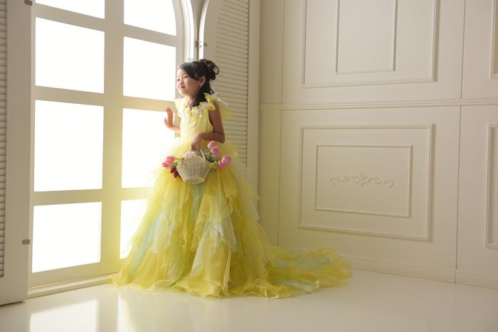 七五三7歳女の子No.16 size120-黄
