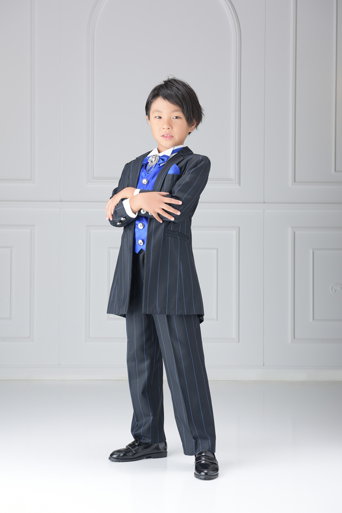 七五三7歳男の子No.5 size120-黒