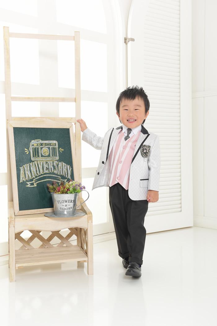 七五三3歳男の子No.11 size90-シルバー