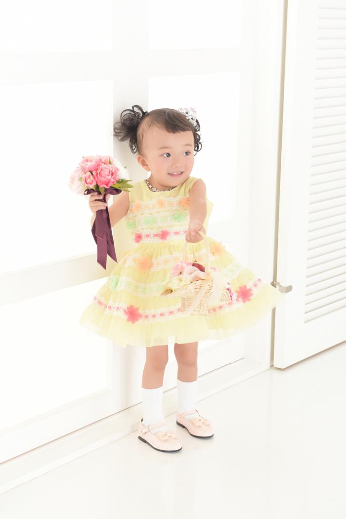 七五三3歳女の子No.3 size90-黄