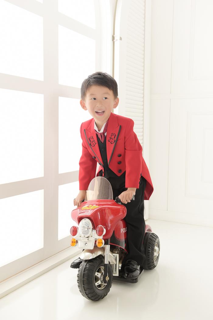 七五三5歳男の子No.12 size100-赤