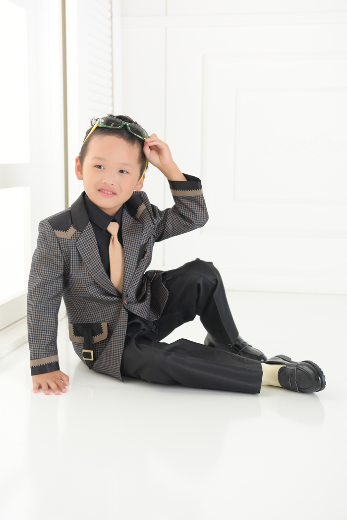 七五三5歳男の子No.15 size110-チャコール
