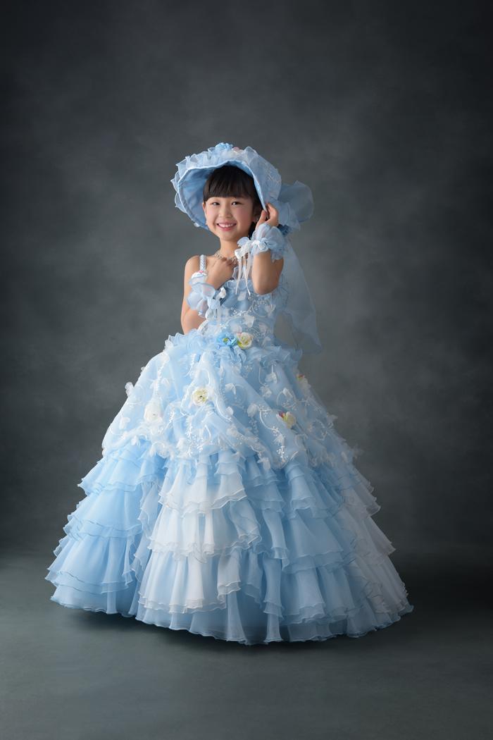 七五三5歳女の子No.11 size110-水色