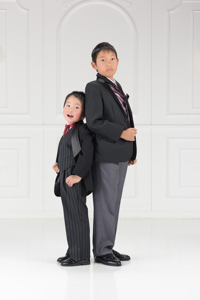 七五三5歳男の子No.12 size110-黒,7歳男の子No.1 size150-黒