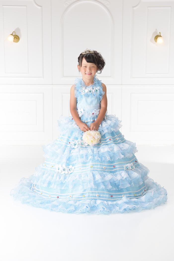 七五三7歳女の子No.13 size120-ブルー