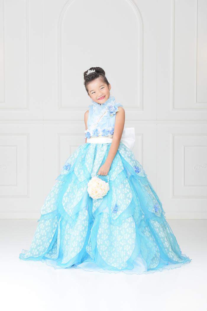 七五三7歳女の子No.15 size120-ブルー