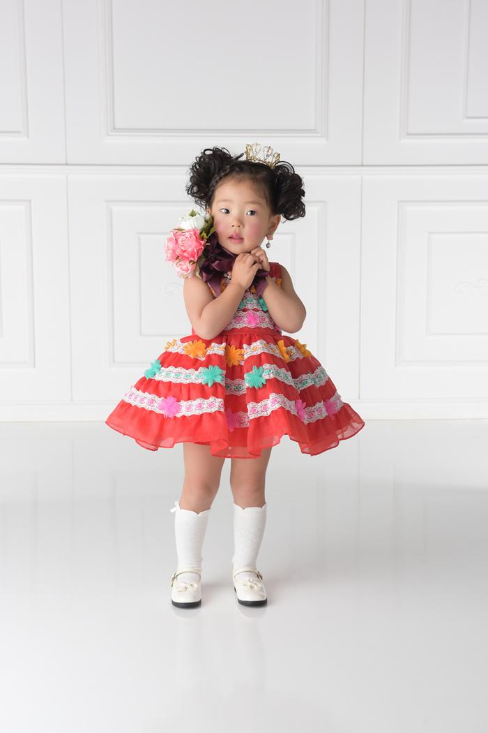 七五三3歳女の子No.2 size90 赤