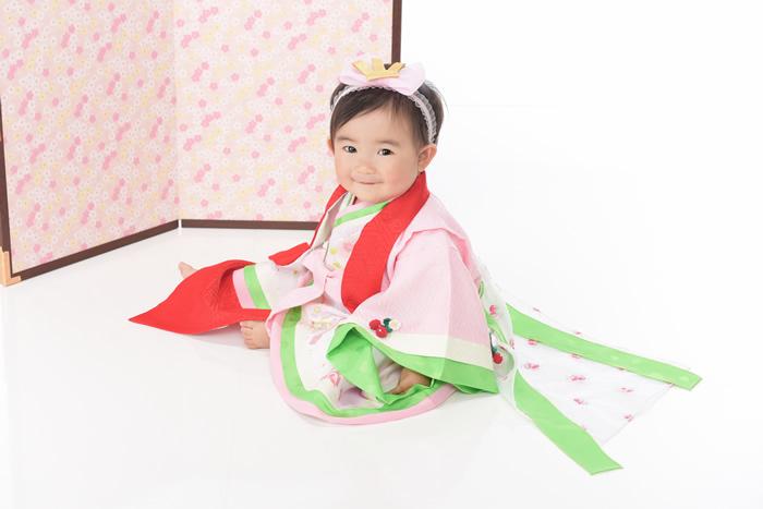1歳-和装-桃